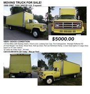 MOVING TRUCK FOR SALE! - 1986 GMC 700 366CID V-8,  5-speed - CALL 515-988-8479 $5000.00