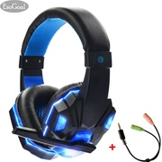 EsoGoal Wired Gaming Headset Head-Mounted Luminous Earbuds